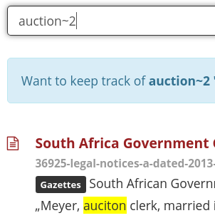 Find Auction spelled as Auciton